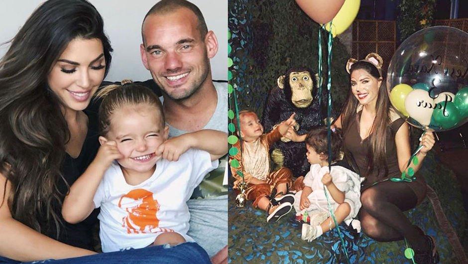 Sneijder'den oğluna 3. yaş partisi