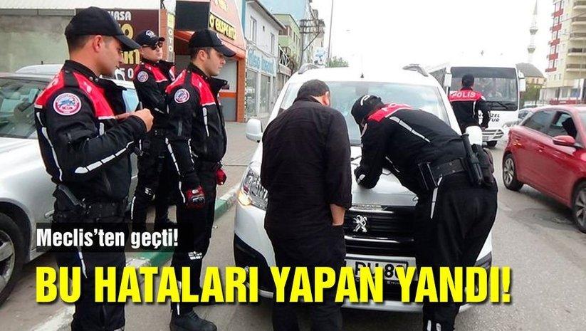 Trafik cezalarının artırılması teklifi Meclisten geçti