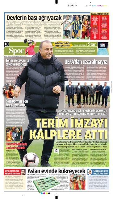 Günün spor manşetleri (19 Ekim 2018)