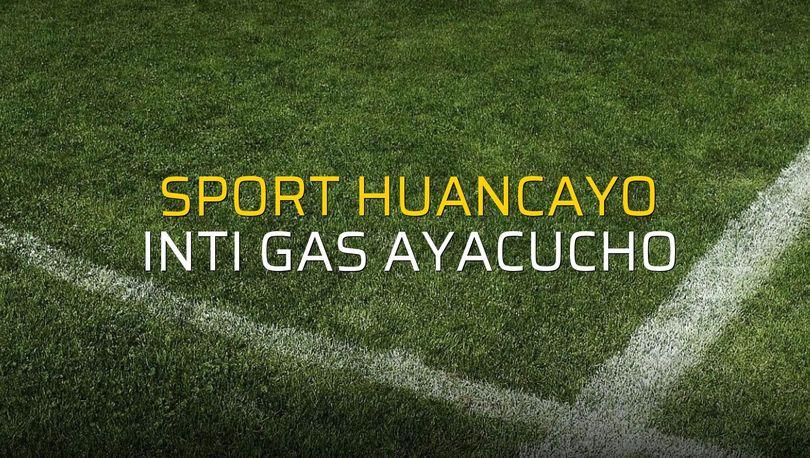 Sport Huancayo: 3 - Inti Gas Ayacucho: 3