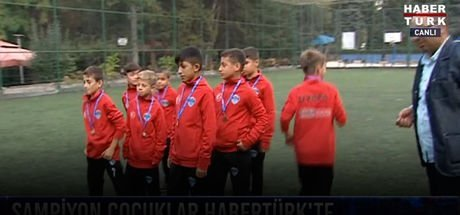 Şampiyon çocuklar Habertürk TV'ye konuk oldu!