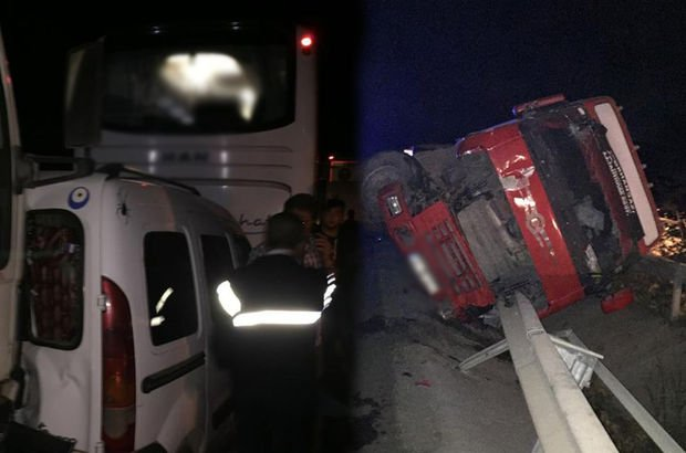 Bilecik'te zincirleme kaza: 3 araç birbirine girdi!