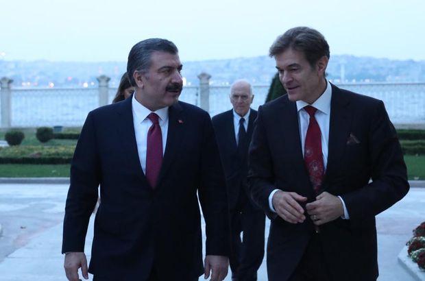 Sağlık Bakanı ile Dr. Mehmet Öz bir araya geldi