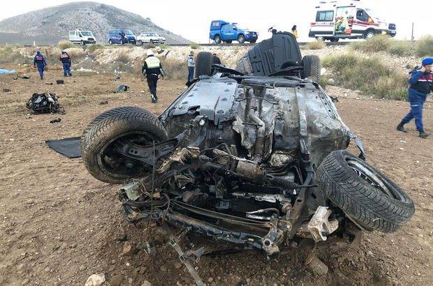 Burdur'da feci kaza: 1 ölü