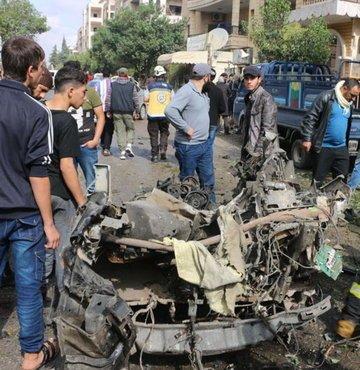 İdlib'de patlama, ölü ve yaralılar var!