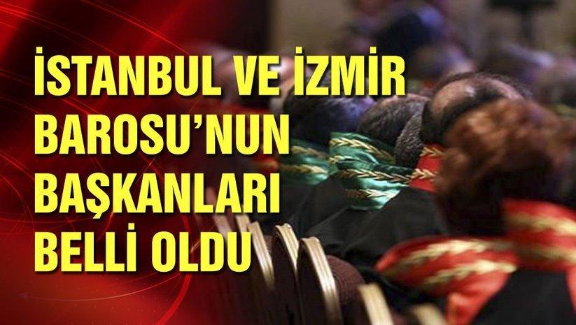 İstanbul ve İzmir Barosunun yeni başkanları belli oldu