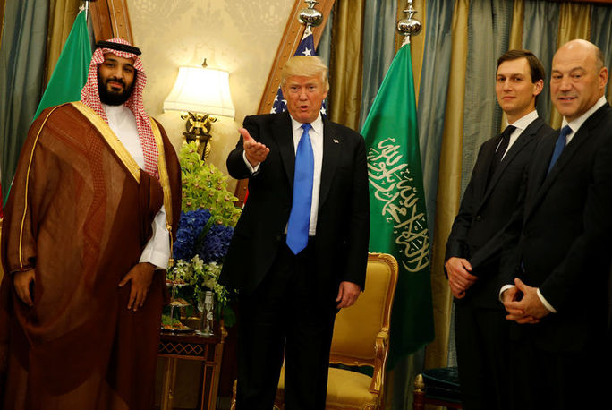 Suudi Veliaht Prens Muhammed bin Salman, Başkan Trump ve Jared Kushner