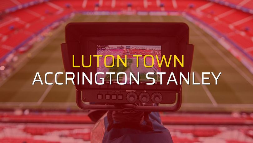 Luton Town: 4 - Accrington Stanley: 1 (Maç sona erdi)