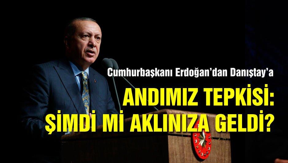 Erdoğan Danıştay'a Andımız tepkisi: Şimdi mi aklınıza geldi?