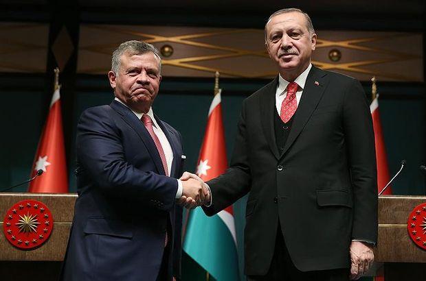 Cumhurbaşkanı Erdoğan, Ürdün Kralı ile görüştü!