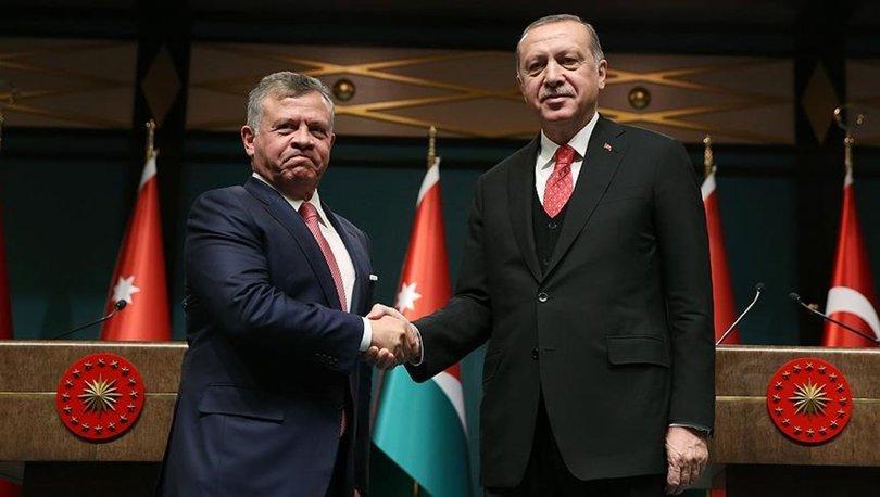 Son dakika... Cumhurbaşkanı Erdoğan, Ürdün Kralı ile görüştü!