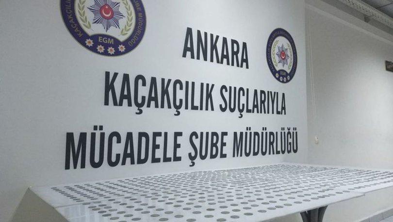 Tarihi eser kaçakçılığı şüphelisi imam 775 sikkeyle Ankara'da yakalandı