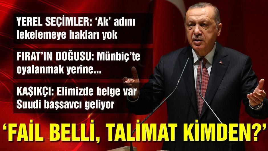 """Cumhurbaşkanı Erdoğan'dan """"Fırat'ın doğusu"""" mesajı: Artık Münbiç yerine..."""