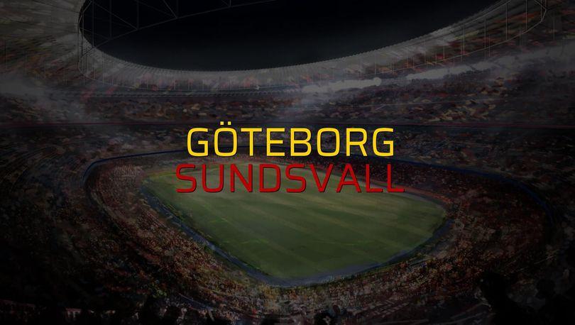 Göteborg - Sundsvall karşılaşma önü
