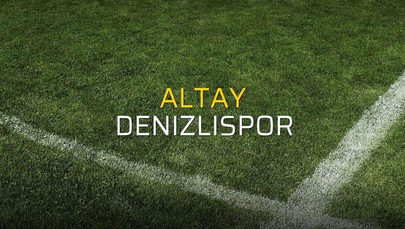 Altay - Denizlispor maçı istatistikleri