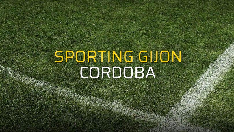 Sporting Gijon - Cordoba maçı rakamları