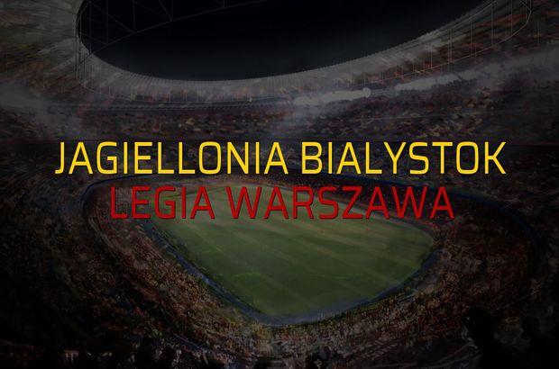 Jagiellonia Bialystok: 1 - Legia Warszawa: 1 (Maç sona erdi)