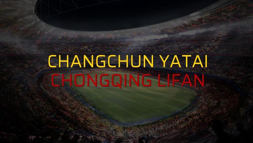 Changchun YaTai - Chongqing Lifan maçı öncesi rakamlar