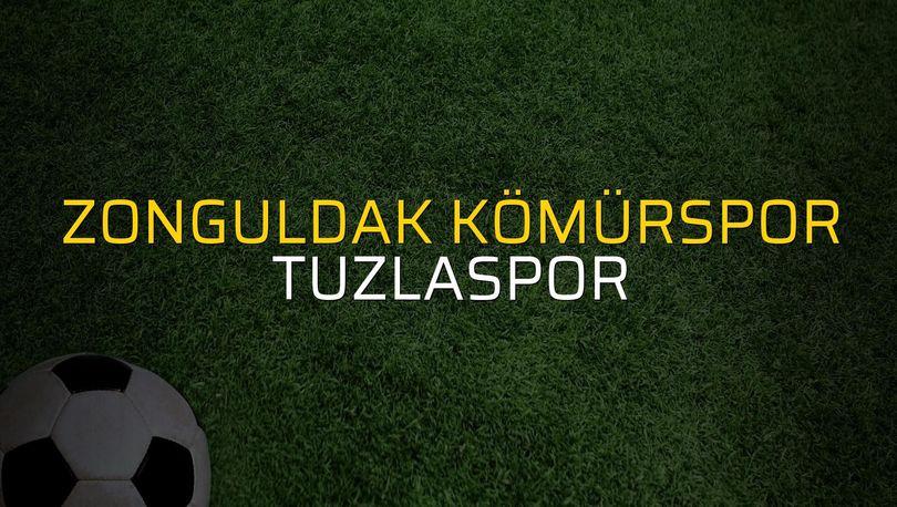 Zonguldak Kömürspor - Tuzlaspor maçı rakamları