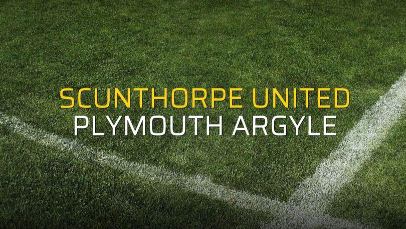 Scunthorpe United - Plymouth Argyle maçı rakamları