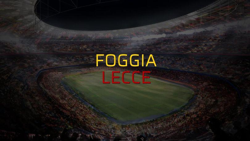 Foggia - Lecce maçı rakamları