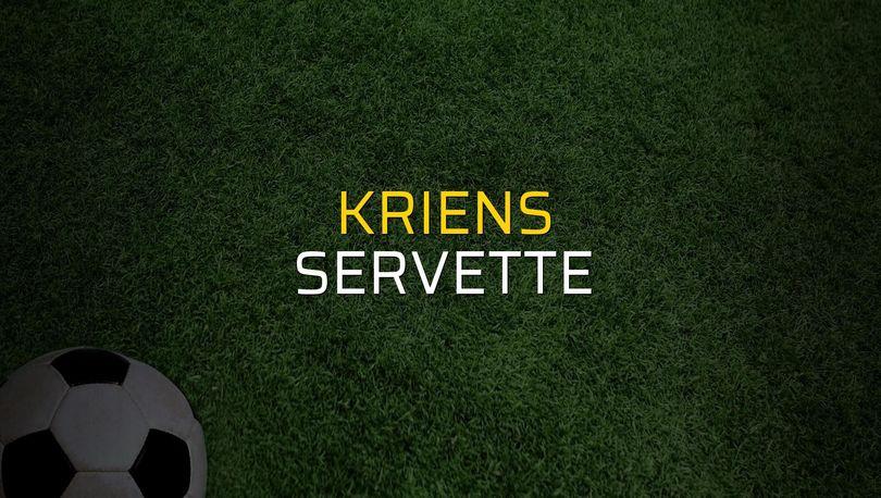 Kriens - Servette rakamlar