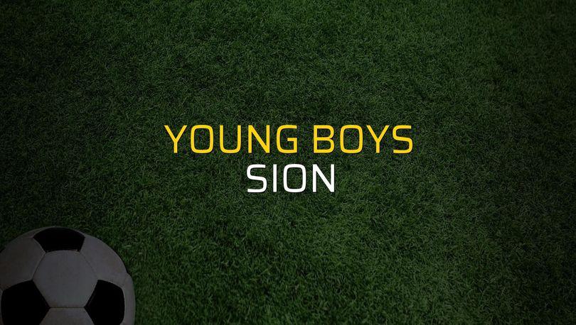 Young Boys - Sion maçı rakamları