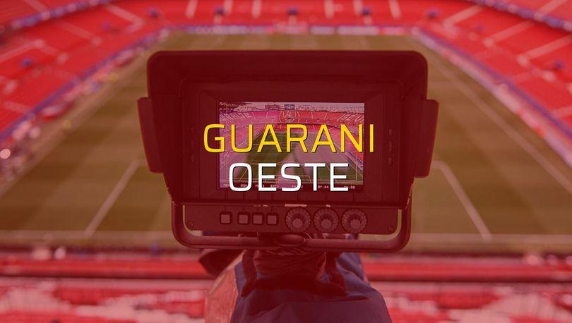 Guarani - Oeste sahaya çıkıyor