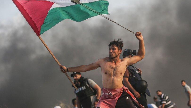 Filistinli gencin fotoğrafı 'özgürlük' sembolüne benzetildi