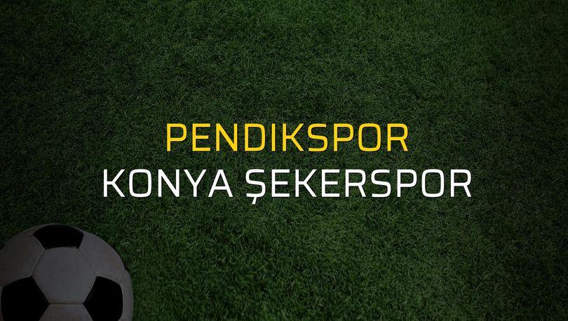 Pendikspor: 3 - Konya Şekerspor: 3 (Maç sonucu)