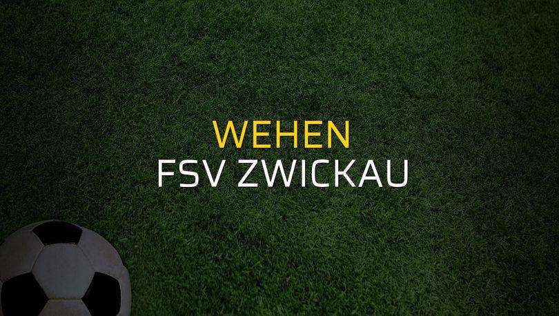 Maç sona erdi: Wehen: 0 - FSV Zwickau:0
