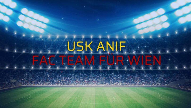 Maç sona erdi: USK Anif: 1 - FAC Team für Wien:3