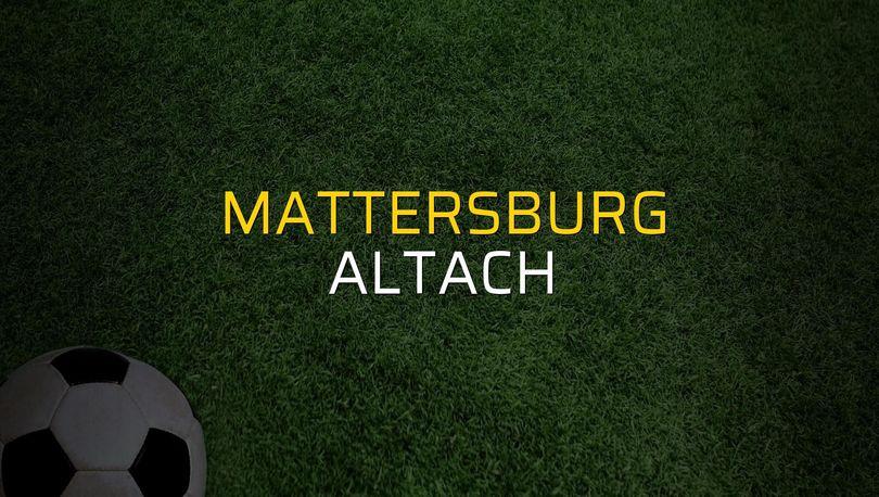 Maç sona erdi: Mattersburg: 1 - Altach:1
