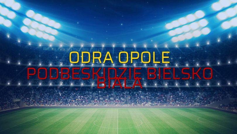 Odra Opole: 0 - Podbeskidzie Bielsko Biala: 1