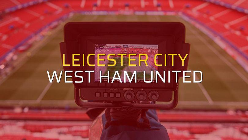 Leicester City: 1 - West Ham United: 1 (Maç sona erdi)