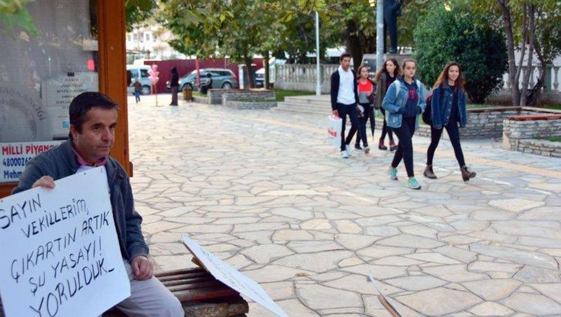 Muğla'da bir doktor doktorlara şiddete karşı günde 2 saat eylem yapıyor