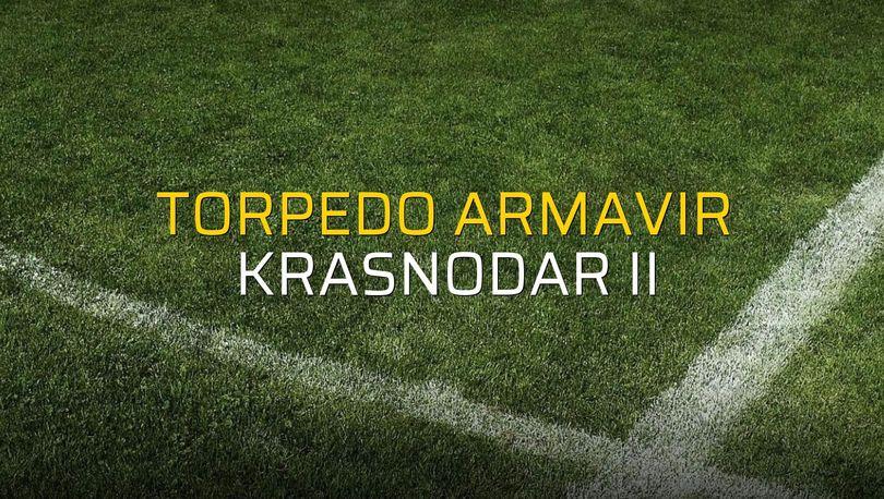 Torpedo Armavir: 1 - Krasnodar II: 2 (Maç sona erdi)