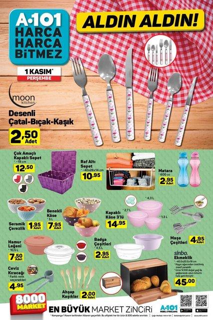 A101 1 Kasım indirimli ürünler listesi yayımlandı! A101'de bu hafta hangi ürünler indirimli