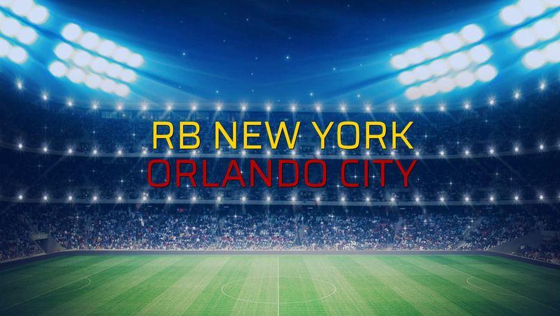 RB New York: 1 - Orlando City: 0 (Maç sona erdi)