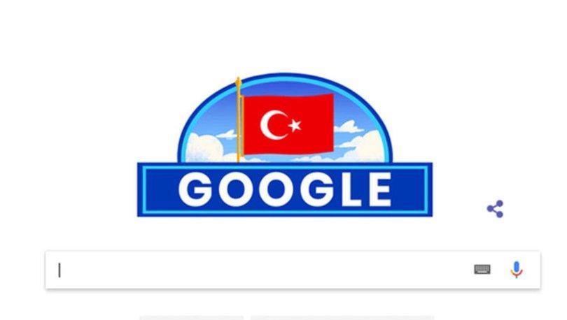 Google 29 Ekim'i unutmadı! Google'dan Cumhuriyet Bayramı doodle'ı