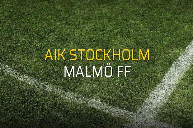 AIK Stockholm: 1 - Malmö FF: 1 (Maç sona erdi)