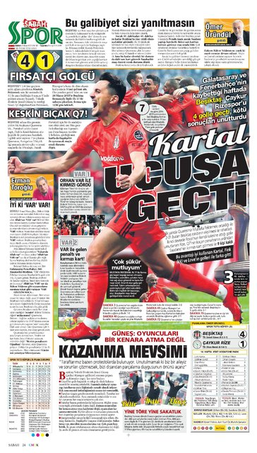 Günün spor manşetleri (30 Ekim 2018)