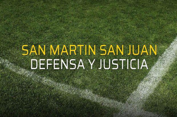 Maç sona erdi: San Martin San Juan: 0 - Defensa y Justicia:1