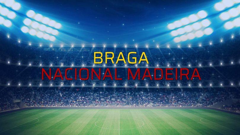 Braga - Nacional Madeira sahaya çıkıyor