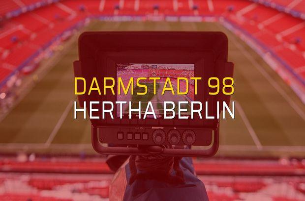 Darmstadt 98 - Hertha Berlin maçı istatistikleri