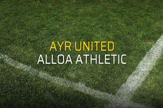Ayr United - Alloa Athletic maçı heyecanı