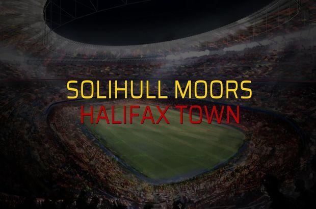 Solihull Moors - Halifax Town maç önü