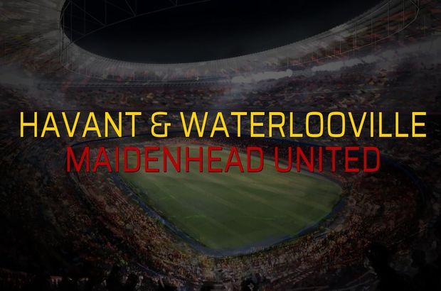Havant & Waterlooville - Maidenhead United karşılaşma önü