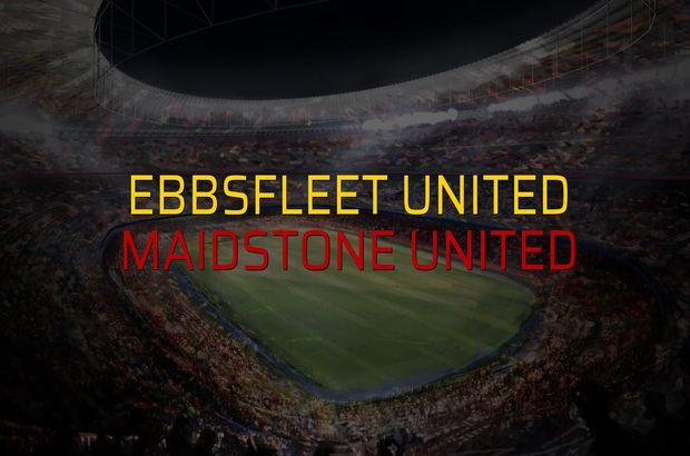 Ebbsfleet United - Maidstone United maçı öncesi rakamlar
