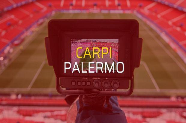 Carpi - Palermo maçı istatistikleri